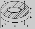 Piezoelectric Rings Thickness Mode